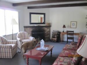 Living Room at Ocean View Lodge Carmel