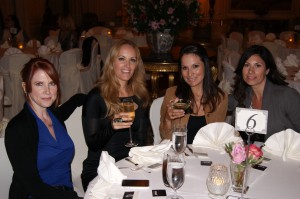 Ladies enjoy the champagne