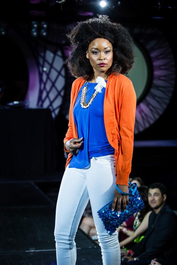 Models work the catwalk