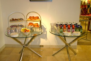 Refreshments for guests