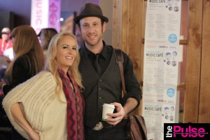 Ascap Music Cafe Sundance with Kris Gruen in Sweater by Amy Rae Boutique and Missoni Scarf