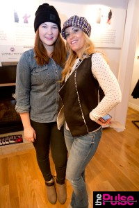Canada Goose Fashion segment in sweater & Vest Emma Jane Boutique La Jolla, Mother denim jeans, rag & bone boots and Badgley Mischka Hat