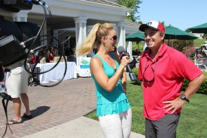 Oakwood4Hope Celebrity Golf Tournament in Glam & Sassy top and Helmut Lang Jeans