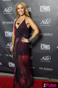 Rory Becca gown Pink Lagoon necklace by Kristen Dorsey Designs at Project Ethos Event