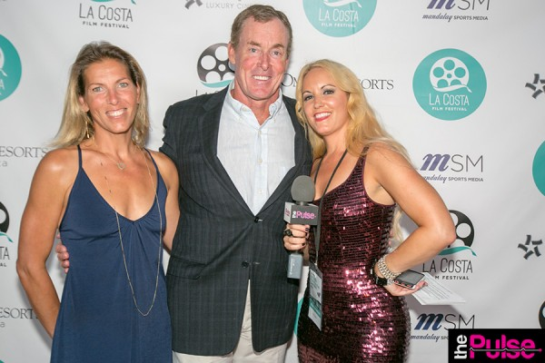 With John C. McGinley in dress by Jay Godfrey NYC Heels YSL