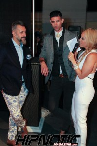 Isabel Vianey custom Jumpsuit to MC San Diego's Most Stylish Man as seen in Hipnotic Magazine