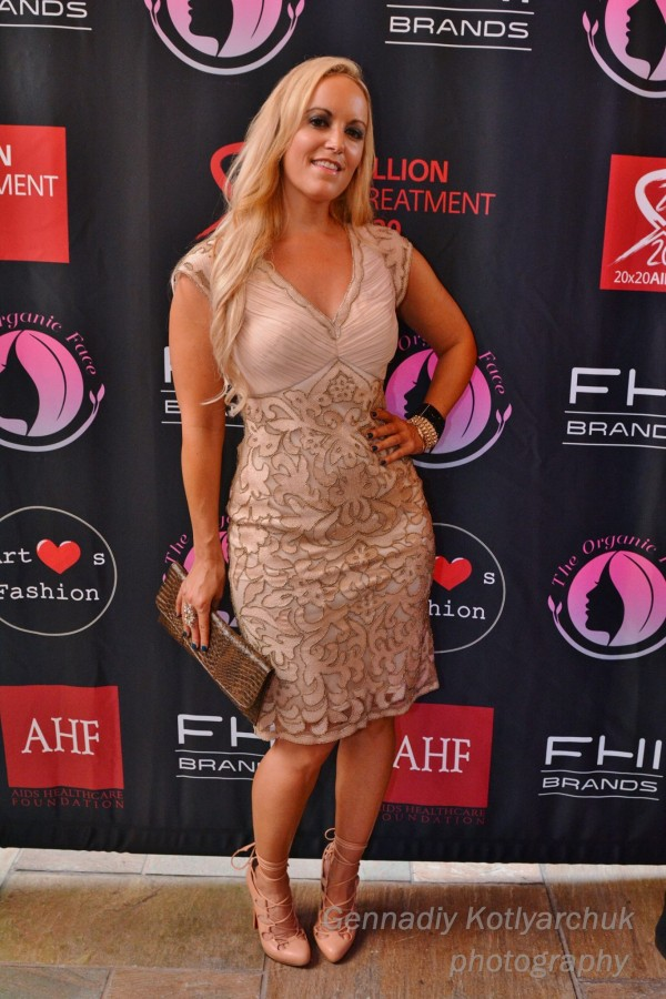 Sue Wong Fashion Show Red Carpet in Sue Wong dress at LA Fashion Week Sues Christian Louboutin