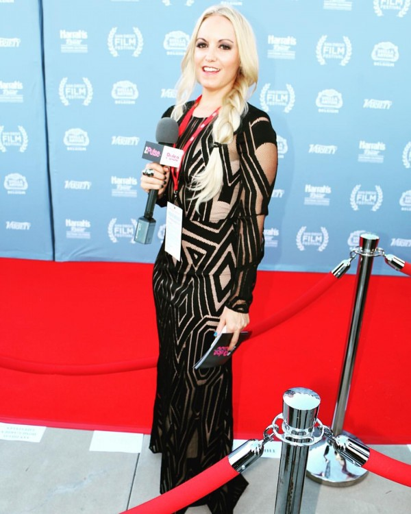 San Diego Film Festival Red Carpet in a gown by BCBG Max Azria