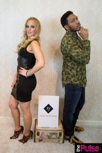 Fashion Fixx set wearing Emma Jane Boutique dress and jewelry, booties Christian Louboutin