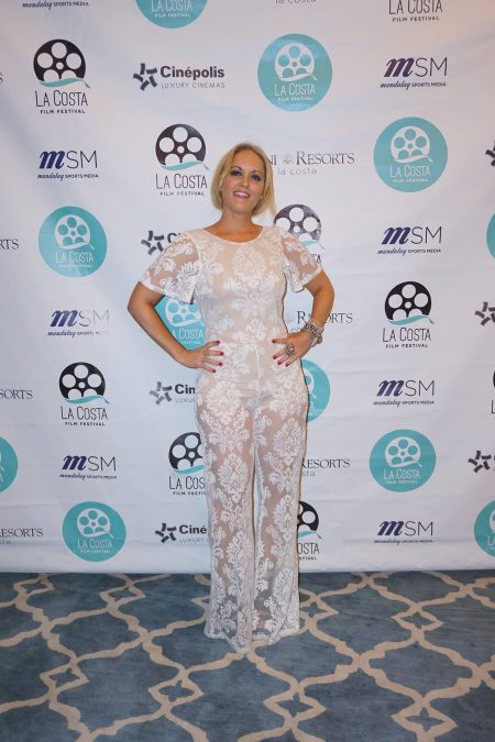 La Costa Film Festival Red carpet in lace jumpsuit by NastyGal Photo by: Sergio Cruz