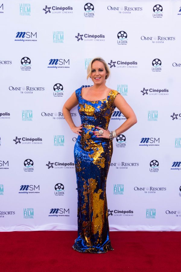 La Costa Film Festival wearing a custom gown by Andre Soriano