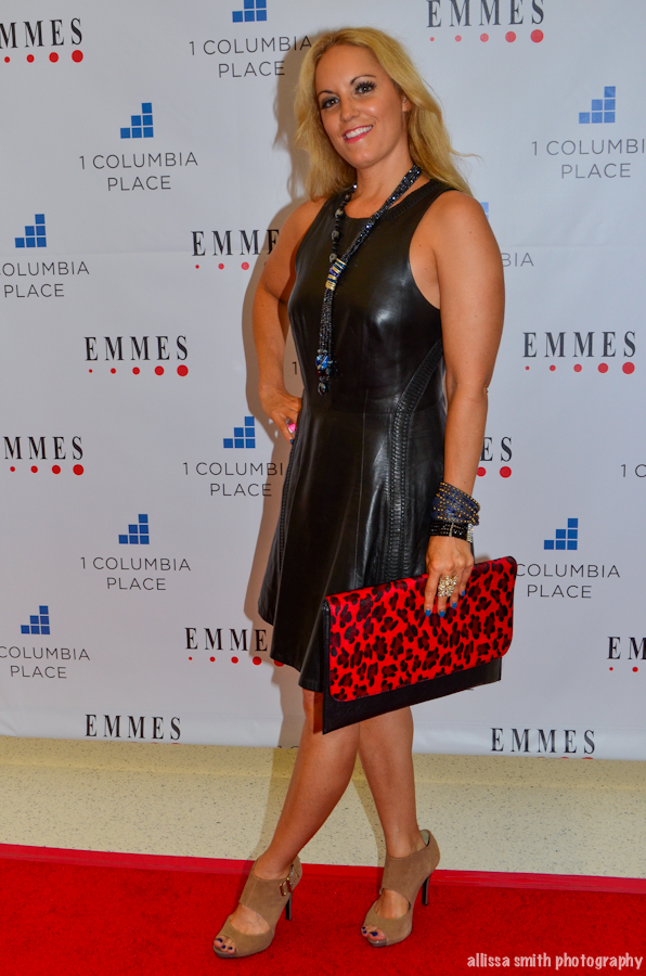 Dress by Rag & Bone, Shoes Nine West, Purse vintage, Jewelry Glam & Sassy (red carpet at 1 Columbia grand opening)