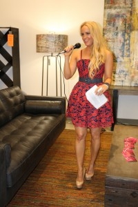 Hosting Elite Event at Hold It Contemporary Home in a dress by Alice & Olivia