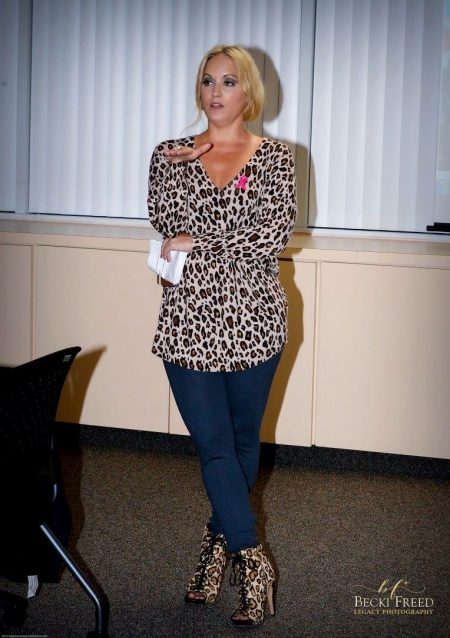 Elite Networking event at Susan G. Komen in Sweater by Joie, pants Vince, booties Sam Edelman