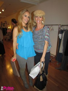 At Elite private shopping event at Emma Jane Boutique rockinga blouse & necklace from Emma Jane, Jeans Victoria Beckham, boots Jessica Simpson