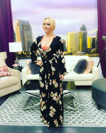 Dress by Wysh Boutique on Set of Live With Cindy