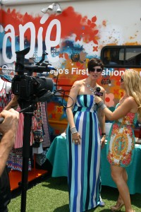 At San Diego's 1st Fashion truck event in Therapie Boutique