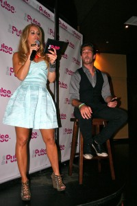 Hosting the dating game at Bar West in Therapie Boutique dress necklace by Glam & Sassy