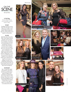 Gucci private event rocking Rag & Bone leather dress as seen in Riviera Magazine