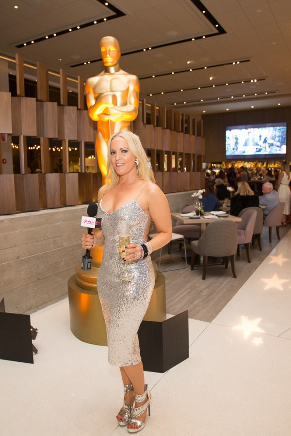Oscar Party at the Lot in Nasty Gal dress & Jessica Simpson Heels