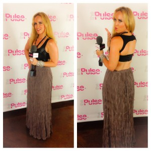 Yelp North County Event in Blaque label dress from Dolcetti Boutique, arm candy & ring by Glam & Sassy