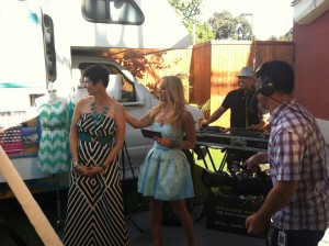 On the set of San Diego 6 in
