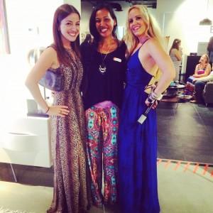 Yumi Kim Dress, bracelets M by Michelle Horner and Glam & Sassy