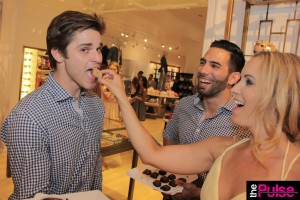 Feeding the gorgeous waiters!