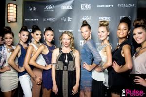 Kristen Dorsey & Models after the show