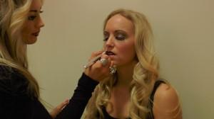 Amber doing my makeup