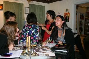 The ladies enjoy the meeting