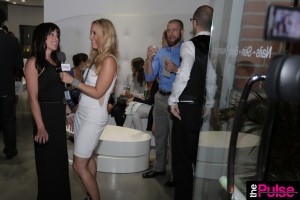 Interviewing host Jennifer Butler