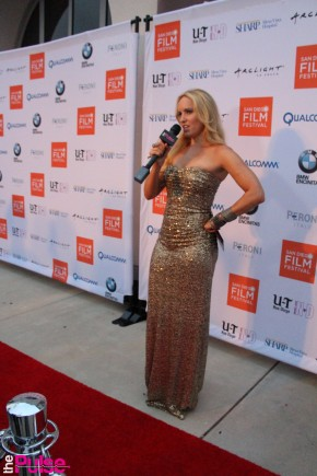 SD Film Fest Red Carpet Badgley Mischka gown