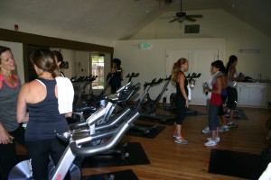 Spin class at the cottage