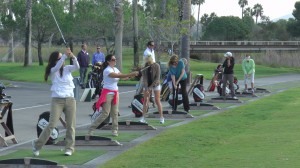 Ladies in the golf clinic