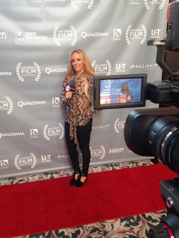 San Diego Film Festival in a blouse by Altuzarra for Target, pants Madewell UTC, Shoes Christian Louboutin