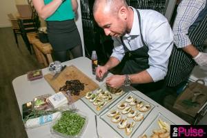 Pablo prepares the food