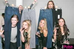 Guests flocked to the denim