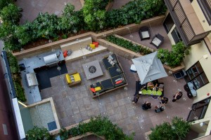 Unwind courtyard