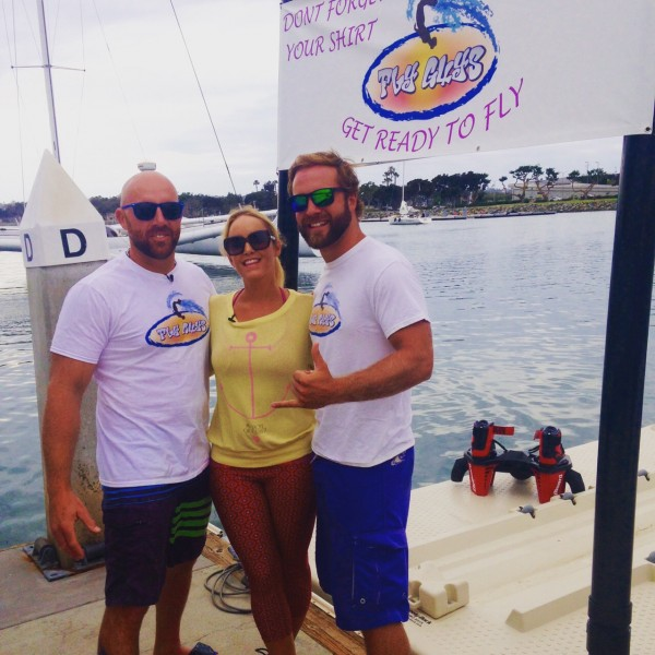Wearing Prana Swim Tights on location at Fly Guys Watersports