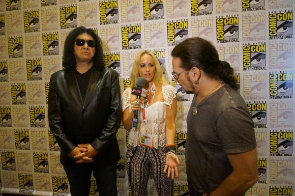 Gene Simmons & Eric Singer of Kiss in Wysh Boutique