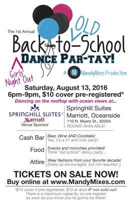 MandyMixes Dance Party Flyer