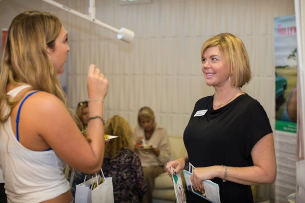 Guests learn about new products