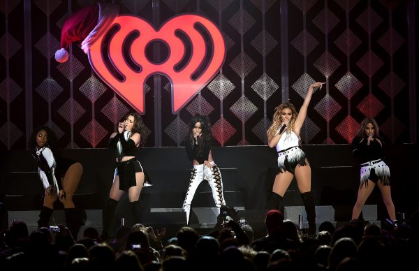 LOS ANGELES, CA - DECEMBER 02:  (L-R) Singers Normani Kordei, Lauren Jauregui, Camila Cabello, Dinah Jane Hansen, and Ally Brooke of Fifth Harmony perform onstage during 102.7 KIIS FM's Jingle Ball 2016 presented by Capital One at Staples Center on December 2, 2016 in Los Angeles, California.  (Photo by Kevin Winter/Getty Images for iHeartMedia)