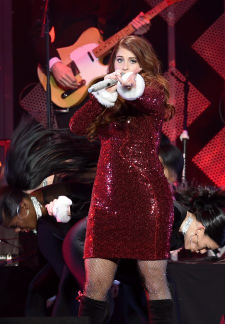 LOS ANGELES, CA - DECEMBER 02:  Singer Meghan Trainor performs onstage during 102.7 KIIS FM's Jingle Ball 2016 presented by Capital One at Staples Center on December 2, 2016 in Los Angeles, California.  (Photo by Kevin Winter/Getty Images for iHeartMedia)